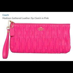 Coach pink Madison wristlet